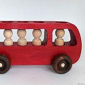 Куклы и игрушки handmade. Livemaster - original item A bus with passengers Cherry. Handmade.