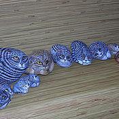 """Подарки к праздникам ручной работы. Ярмарка Мастеров - ручная работа арт-объект """"Каменный кот"""". Handmade."""