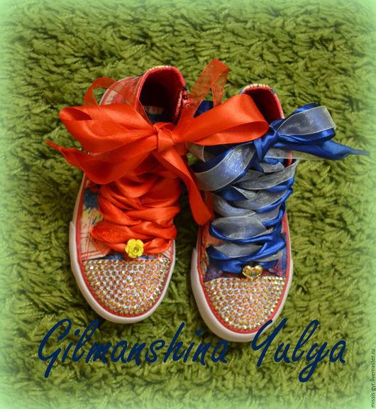 Обувь ручной работы. Ярмарка Мастеров - ручная работа. Купить #летояскучаю. Handmade. Комбинированный, готовая работа, для девушки, обувь для детей