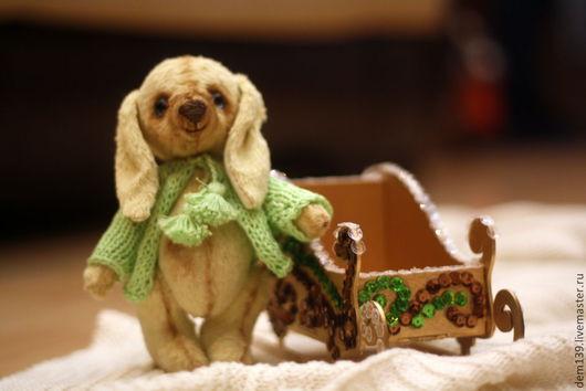 Мишки Тедди ручной работы. Ярмарка Мастеров - ручная работа. Купить Зайка - друг Тедди. Handmade. Мятный, новогодний подарок