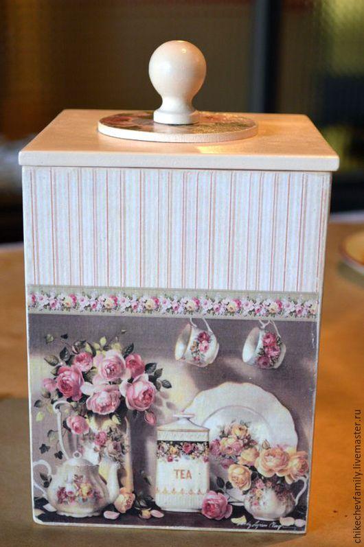 """Кухня ручной работы. Ярмарка Мастеров - ручная работа. Купить Короб """"Приглашение к чаепитию"""""""". Handmade. Розовый, короб для кухни"""
