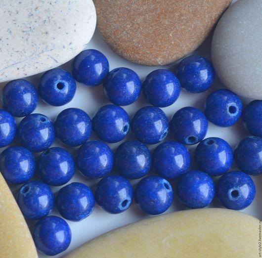 Для украшений ручной работы. Ярмарка Мастеров - ручная работа. Купить Лазурит НАБОР натуральный, гладкий шар, 6 мм.. Handmade.