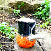 """Посуда ручной работы. Ярмарка Мастеров - ручная работа Турка для варки кофе """" Кофейный клуб"""". Handmade."""