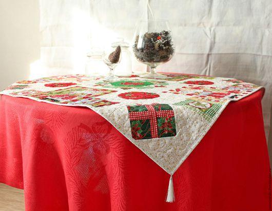"""Текстиль, ковры ручной работы. Ярмарка Мастеров - ручная работа. Купить Комплект столового текстиля """"Новогоднее настроение"""". Handmade."""