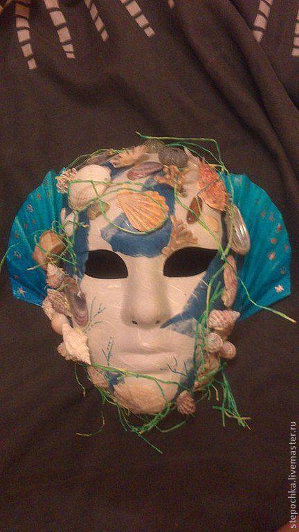 """Интерьерные  маски ручной работы. Ярмарка Мастеров - ручная работа. Купить маска """"Морская владычица"""". Handmade. Синий, голубой, бирюзовый"""