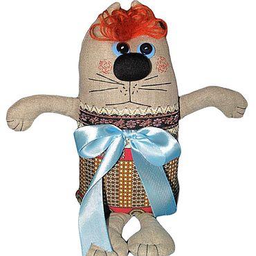 Куклы и игрушки ручной работы. Ярмарка Мастеров - ручная работа Кот с бантом. Handmade.