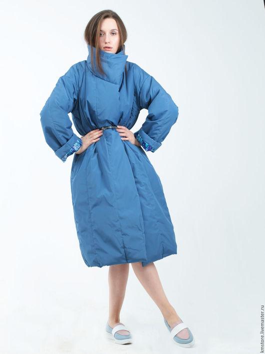 """Верхняя одежда ручной работы. Ярмарка Мастеров - ручная работа. Купить Пуховик одеяло """"Серо голубой"""". Handmade. Голубой, плащ"""