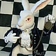 Сказочные персонажи ручной работы. Белый Кролик из Алисы. Morozova Natalia. Интернет-магазин Ярмарка Мастеров. Белый кролик, игрушка