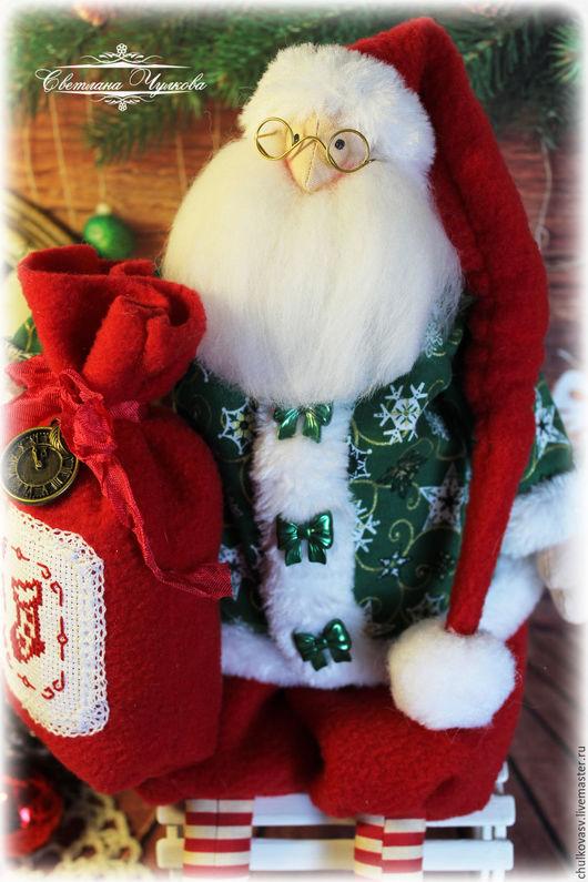 Новый год 2017 ручной работы. Ярмарка Мастеров - ручная работа. Купить Санта Клаус. Новый Год 2017. Подарок на Новый Год. Handmade.