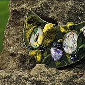 "Украшения handmade. Livemaster - original item Embroidered necklace ""The blackberry glade"". Handmade."