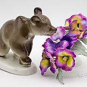 Украшения handmade. Livemaster - original item Comb with flowers made of silk