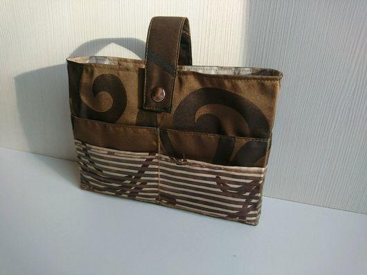 """Органайзеры для сумок ручной работы. Ярмарка Мастеров - ручная работа. Купить Органайзер для сумки """"Темный шоколад"""".. Handmade. Комбинированный, коричневый"""