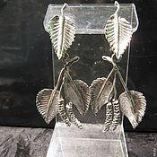 Украшения ручной работы. Ярмарка Мастеров - ручная работа Серьги березки из серебра. Handmade.