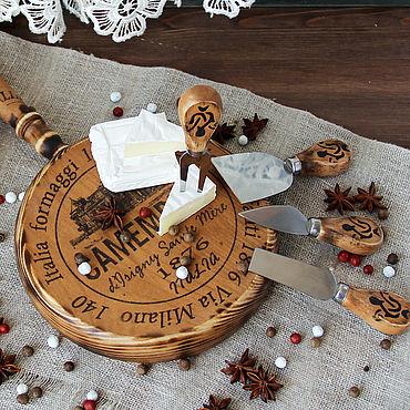 """Для дома и интерьера ручной работы. Ярмарка Мастеров - ручная работа Набор для сервировки сыра """"Утро в Палермо"""". Handmade."""