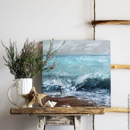 картина для интерьера лестница веревочная хендмейд картина в подарок картина маслом
