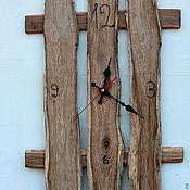 Для дома и интерьера ручной работы. Ярмарка Мастеров - ручная работа Настенные часы «Заборчик»  в эко-стиле. Handmade.