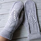 Аксессуары handmade. Livemaster - original item Mittens knitted felted herringbone. Handmade.
