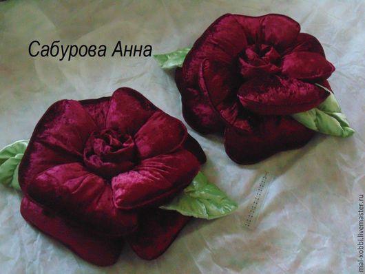Текстиль, ковры ручной работы. Ярмарка Мастеров - ручная работа. Купить подушка роза из бархата пошив на заказ цвет любой. Handmade.