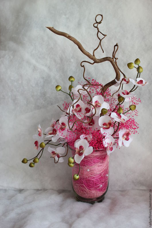 Интерьерные композиции ручной работы. Ярмарка Мастеров - ручная работа. Купить Интерьерная композиция,цветочная композиция Беззаботность. Handmade.