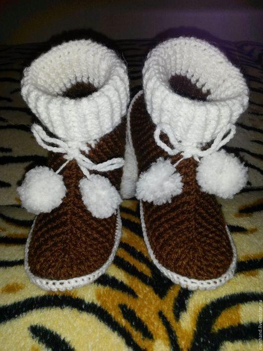Обувь ручной работы. Ярмарка Мастеров - ручная работа. Купить сапожки домашние. Handmade. Комбинированный, Тапочки ручной работы