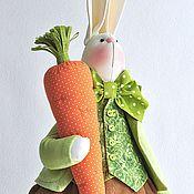 Куклы и игрушки ручной работы. Ярмарка Мастеров - ручная работа Морковочкин. Текстильная игрушка заяц, заяц в подарок. Handmade.