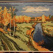 Картины и панно ручной работы. Ярмарка Мастеров - ручная работа вышивание крестом Осень. Handmade.