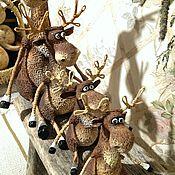 Куклы и игрушки ручной работы. Ярмарка Мастеров - ручная работа Лось,лосямба и лосёныш)). Handmade.