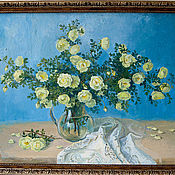 Картины и панно ручной работы. Ярмарка Мастеров - ручная работа белый шиповник. Handmade.