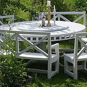 Для дома и интерьера handmade. Livemaster - original item Стол с крутящейся столешницей из массива кедра Утренний прованс. Handmade.
