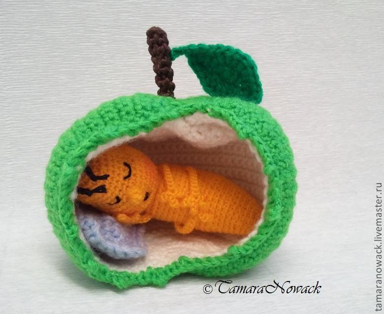 Схемы вязания червячка