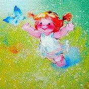 """Картины ручной работы. Ярмарка Мастеров - ручная работа Картина маслом """"Голубая мечта"""".. Handmade."""