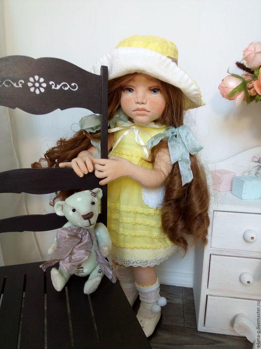 Коллекционные куклы ручной работы. Ярмарка Мастеров - ручная работа. Купить Авторская кукла ручной работы.. Handmade. Желтый