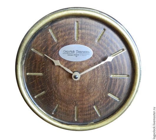 Часы для дома ручной работы. Ярмарка Мастеров - ручная работа. Купить Настенные часы. Бук. Старое золото. Три.. Handmade.