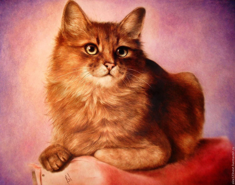 "Картина маслом ""Рыжий кот"", Картины, Волгоград,  Фото №1"