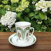 Винтаж handmade. Livemaster - original item Coffee steam Lomonosov porcelain factory, Russia. Handmade.