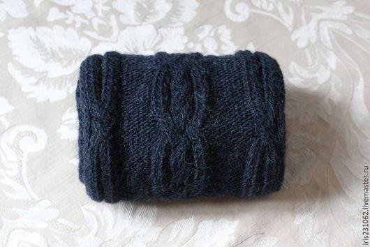 Шарфы и шарфики ручной работы. Ярмарка Мастеров - ручная работа. Купить шарф араны альпака. Handmade. Тёмно-синий, альпака