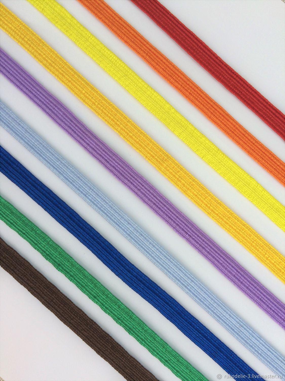 Резинка 7-8мм цветная №4 тесьма эластичная плоская, Материалы, Балашиха, Фото №1