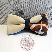 Аксессуары handmade. Livemaster - original item tie captain america/ superhero/ the first avenger/ captai. Handmade.