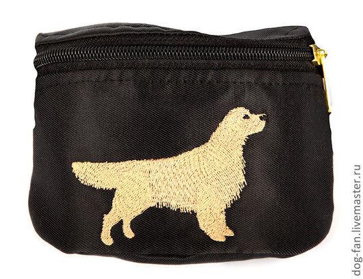 Аксессуары для собак, ручной работы. Ярмарка Мастеров - ручная работа. Купить Сумочка для лакомства с эксклюзивной вышивкой собак разных пород. Handmade.