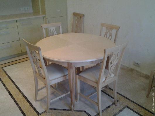 Мебель ручной работы. Ярмарка Мастеров - ручная работа. Купить Стол для кухни. Handmade. Бежевый, мебель на заказ, шпон
