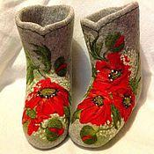 """Обувь ручной работы. Ярмарка Мастеров - ручная работа Валеночки """"Летняя сказка"""". Handmade."""
