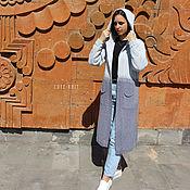 Одежда handmade. Livemaster - original item Cardigans: women`s cotton hooded cardigan. Handmade.