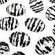 Для украшений ручной работы. Ярмарка Мастеров - ручная работа. Купить Кабошон-страз Зебра зеркальная 10х14мм (пластик) 1шт.. Handmade.