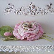 Украшения ручной работы. Ярмарка Мастеров - ручная работа Брошь валяная Розовое очарование. Handmade.