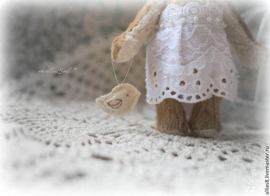 Мишки Тедди ручной работы. Ярмарка Мастеров - ручная работа. Купить Лила. Handmade. Бежевый, кружево, кружево