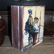 """Для дома и интерьера ручной работы. Ярмарка Мастеров - ручная работа Короб-книга  """"Рыболов"""". Handmade."""