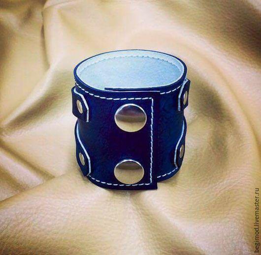 Браслеты ручной работы. Ярмарка Мастеров - ручная работа. Купить Браслет кожаный. Handmade. Однотонный, напульсник, натуральная кожа