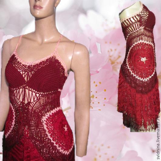 Платья ручной работы. Ярмарка Мастеров - ручная работа. Купить платье Вишенка 2. Handmade. Бордовый, платье летнее