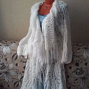 Одежда handmade. Livemaster - original item Knitted boho cardigan with fringe