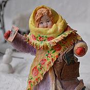Подарки к праздникам ручной работы. Ярмарка Мастеров - ручная работа Ватная елочная игрушка ПОЧТАЛЬОН ЛЮБАША. Handmade.